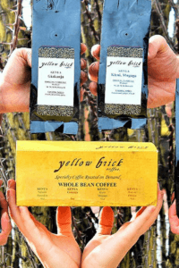 Assortment of coffee bean offerings from Yellow Brick Coffee