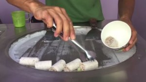 Thai Style rolls of ice cream
