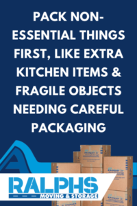 prioritizing items for packing boxes while moving
