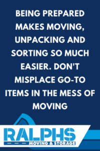 MOVING ESSENTIALS CHECKLISTS