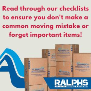 moving essentials checklist to prepare for a move